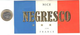 ETIQUETA DE HOTEL  -  HOTEL NEGRESCO  -NICE  -FRANCIA - Hotel Labels