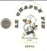 ETIQUETA DE HOTEL  - LE CHAPON FIN  -BRIVE - Hotel Labels