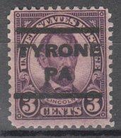 USA Precancel Vorausentwertung Preo, Locals Pennsylvania, Tyrone 635-202 - Vereinigte Staaten