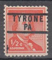 USA Precancel Vorausentwertung Preo, Locals Pennsylvania, Tyrone 837 - Vereinigte Staaten