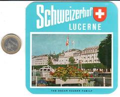 ETIQUETA DE HOTEL  - SCHWEIZERHOF  -LUCERNE  -SUIZA - Hotel Labels