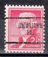 USA Precancel Vorausentwertung Preo, Locals Pennsylvania, Uniontown 704 - Vereinigte Staaten