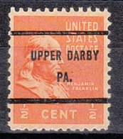 USA Precancel Vorausentwertung Preo, Bureau Pennsylvania, Upper Darby 803-61 - Vereinigte Staaten