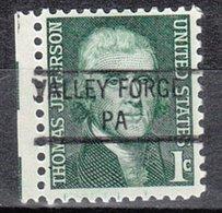 USA Precancel Vorausentwertung Preo, Locals Pennsylvania, Valley Forge 841 - Vereinigte Staaten