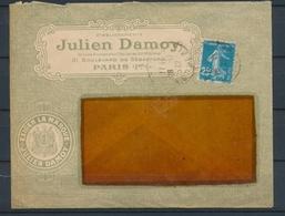 1922 Enveloppe Illustrée EXIGEZ LA MARQUE JULIEN DAMOY PARIS P4831 - Marcophilie (Lettres)