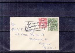 Danemark - Lettre Petit Format De 1956 - Oblit Kobenhaven - Exp Vers Virginia - Dänemark