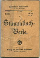 Miniatur-Bibliothek Nr. 74/75 - Stammbuch-Verse - 8cm X 11cm - 80 Seiten Ca. 1900 - Verlag Für Kunst Und Wissenschaft Al - Libri, Riviste, Fumetti
