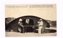 """Entier Postal à 10 Centimes.""""Est Africain Allemand.Occupation Belge"""". Les Canons Défendant La Kalemie (Congo Belge). - Stamped Stationery"""