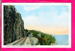 Cpa  Carte Postale Ancienne  - RI , Along Willsboro Bay , Lake Champlain , D & H . RY - Etats-Unis