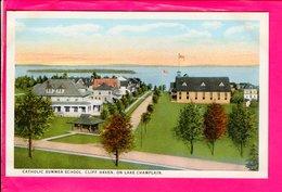 Cpa  Carte Postale Ancienne  - Catholic Summer School, Lake Champlin,  Cliff Haven - Etats-Unis