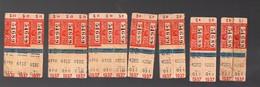 """(Paris) Lot De 17 Tickets De Bus (carnet """"S"""" ) 1937 Avec Pub GALERIE BARBES Au Verso  (PPP12590) - Bus"""