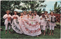 'Conjunto Tipico Cajar' With 'Polleras' And 'Montunas'  - Folklore Presentations, Dance, Music - Republic Of Panama - Panama