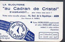 Agen (lot Et Garonne)  Calendrier 1965 AU CADRAN DE CRISTAL (bijouterie) (PPP12593) - Calendars