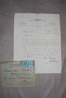 Lettre à En-tête De G. BENEZECH Architecte à PARIS Et Enveloppe Voyagés Par Courrier Pneumatique 1924 - Manuscripts