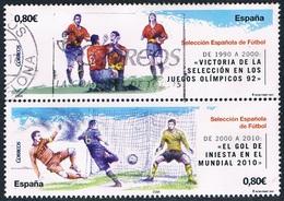 Espagne - Sélection Espagnole De Football 4339/4340 (année 2011) Oblit. - 2011-... Oblitérés