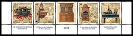 Serbia 2018, Museum Exhibits, Postal-Telegraphic-Telephone Museum In Belgrade, 5th Row MNH - Posta
