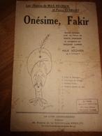 Onesime Fakir Max Regnier Pierre Ferrary - Song Books