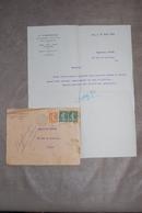 Lettre à En-tête De V. CASTELLI  Administrateur D'immeubles à PARIS - 1924 - Manuscripts