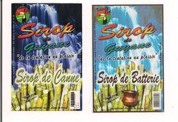 Etiquettes  Sirop  De Sucre  Et Sirop De Batterie  - Tchenbé Rèd - GUYANE - - Rhum
