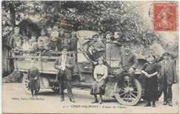 50.CHEF DU PONT.  TRES BELLE CARTE BIEN ANIMEE.  L AUTO DE L USINE  AN 1918 - Sonstige Gemeinden