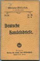 Miniatur-Bibliothek Nr. 78/79 - Deutsche Handelsbriefe - 8cm X 11cm - 96 Seiten Ca. 1900 - Verlag Für Kunst Und Wissensc - Libri, Riviste, Fumetti