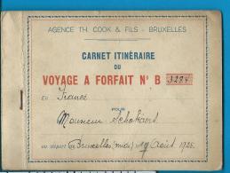 Thomas Cook & Fils    Carnet Itinéraire     Voyage A Forfait    France   Schokaert    1925 - Railway