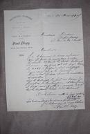 PARIS 1905 - Lettre Manuscrite Paul CHOPY ARTISAN COUVERTURE PLOMBERIE - 1905 - France