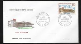 C. I. FDC Lettre Illustrée 1er Jour Abidjan Le 12/06/1965  Le N° 236 Gare D'Abidjan   TB - Côte D'Ivoire (1960-...)