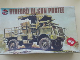 MAQ518 : Rare Maquette Plastique à Monter AIRFIX 1/32e : ARMEE GB 39/45 BEDFORD QL GUN PORTEE Complete Non Commencée - Military Vehicles
