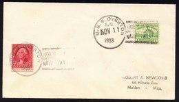 A5454) US Brief Von U.S.S. Overton 11.11.33 - Briefe U. Dokumente