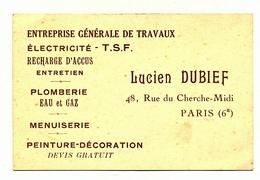 TRAVAUX EN TOUS GENRES PLUS FACTURE VIERGE - Visiting Cards