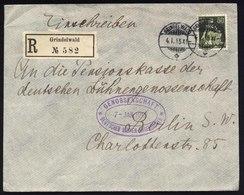 A5455) Schweiz R-Brief Grindelwald 4.1.15 N. Berlin M. EF 50 Rp - Briefe U. Dokumente