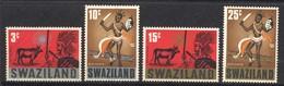 Swaziland, Yvert 133/136, Scott 134/137, SG 132/135, MNH - Swaziland (1968-...)