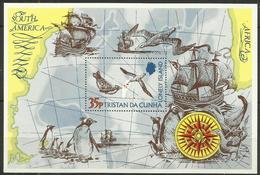 Tristan Da Cunha - 1974  The Lonely Island (penguins & Albatrosses) Souvenir Sheet MNH **     SG MS192    Sc 195 - Tristan Da Cunha