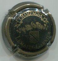 CAPSULE-CHAMPAGNE LEMAIRE GARNIER N°05 Noir & Or Striée - Champagne