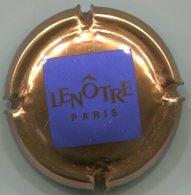 CAPSULE-CHAMPAGNE LENOTRE N°02 Or Carré Bleu - Champagnerdeckel