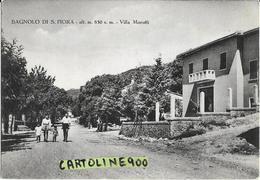 Toscana-grosseto- Bagnolo Di S.fiora Villa Morotti Veduta Via Adiacente Persone Villa Animata Anni 40/50 - Italia