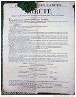 Placard 1822 < PREFECTURE DES LANDES < PRIMES D'ENCOURAGEMENT Pour L'ELEVAGE Des CHEVAUX - Affiches