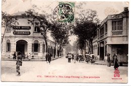 Viêt-Nam : Tonkin : Phu-Lang-thuong: Rue Principale - Vietnam