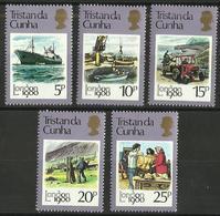 Tristan Da Cunha - 1980 London 80 Philatelic Expo (mail Delivery) Set Of 5 MNH **     SG 277-81    Sc 272-6 - Tristan Da Cunha