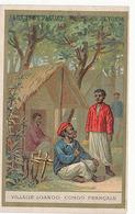 AUX DEUX PASSAGES NOVEAUTES - LYON - VILLAGE LOANGO CONGO FRANCAIS - Trade Cards