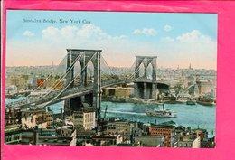 Cpa  Carte Postale Ancienne  - New York Brooklyn Bridge - Ponts & Tunnels