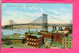 Cpa  Carte Postale Ancienne  - New York Williamsburg Bridge - Ponts & Tunnels