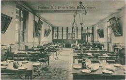 Cpa B14 MOMIGNIES Pensionnat Des Frères De Reims-réfectoire  2e. Et 3e.divisions-1 Personne-détails - Momignies