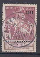 N° 95 SURCHARGE 1911 TYPE LEMAIRE OBLITERATION AUDENAERDE - Belgium