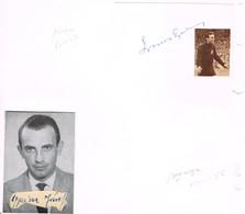 AUTOGRAPHES - JEUX OLYMPIQUES - HONGRIE - GROSICS - FOOTBALL - GYURICZA - ESCRIME - - Autographs