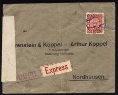 A5456) Österreich Austria Expressbrief Wien N. Nordhausen Devisenkontrolle - 1850-1918 Imperium