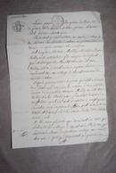 23 CREUSE - Acte Notaire à D'AHUN - 1823 - Manuscripts