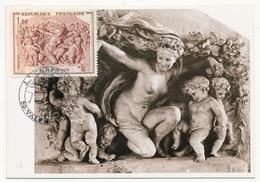 FRANCE - Carte Maximum - 1,00F Sculpture De Carpeaux, Le Jardin De Flore - Premier Jour - Valenciennes 1970 - Cartes-Maximum