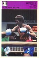 EX. YU. Sloveniasport. Advertising Card.  Slobodan Kacar. - Boxing